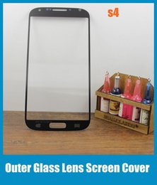 lentes de vidro da frente s4 Desconto Frente Outer Screen Lens Substituição Da Tela de Vidro Digitador Peças de Reparo para Samsung Galaxy S4 s5 s5 celular outer screen cover SNP009