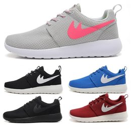 Wholesale Closed Rose - Free Shipping Original 2017 Run Shoes Women and Men roche run black and white rushe one rose runing running shoes sneakers size 36-45