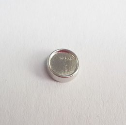 Wholesale Wholesale 8mm Slide Charm - 6mm inner 8mm outside diameter Silver circle setting Floating Charms for Glass Living Locket DIY blank photo Charm fit Locket