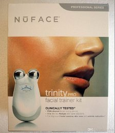 Wholesale Smallest Device - Newest Trinity pro facial trainer kit vs Small Package Trinity Pro Facial Toning Device Kit White face massager New Sealed