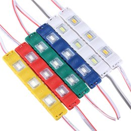 Wholesale New Super Lens - 100% brand new super bright 5630 SMD 3LED Module DC 12V Injection Molding module clear lens