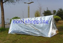 Wholesale Wholesale Survival Tent - DHL Freeshipping PET Aluminium Coating Emergency Shelter Tent Survival Rescue Tent
