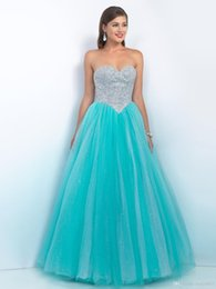 Wholesale Sweetheart Paillette Sleeveless Prom Dresses - A-line Sweetheart Paillette Sleeveless Floor-length Tulle Prom Dresses   Evening Dresses (SZ0000336)