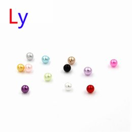 Wholesale Slide Necklace Mix - 120PCS Mix 12Color Floating Charms Imitation pearl Birthday ,Locket Jewelry Pendant For Necklace Zinc Pendant,glass pendant steel MFC2020