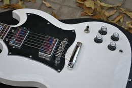 Wholesale S G Guitar - White S G Eletric guitar mahogany body Chinese guitar New