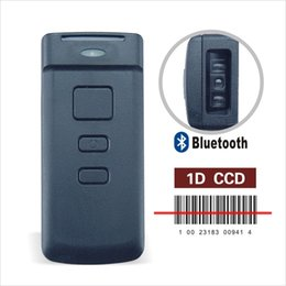 Wholesale Mini Barcode Scanner - Mini CT20 1D CCD Wireless Pocket Bluetooth POS Barcode Scanner for APPLE iOS iPad iPhone Android Mobile Phone Tablets Windows
