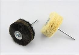 Wholesale Fiberglass Heads - 2pc black white Grinding Flower Head Wood Furniture Polishing Brush 80*6*30mm shank Free shipping order<$18no track