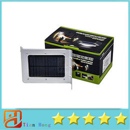 Wholesale Infrared Garden - PIR Infrared Ray Solar Out Door Waterproof Solar Energy LED Light Night Bright Solar Lamp For Yard