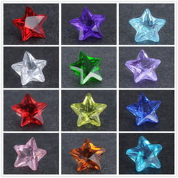 Wholesale Mixed Star Charm - Crystal Star Floating locket charms Mix color 4mm round glass 500pcs lot