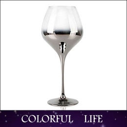 Wholesale Silver Wedding Goblets - Wholesale-Factory Outlet High-grade Wine glasses,silver plating,metallic,Goblets,wedding gifts Suitable for home decoration