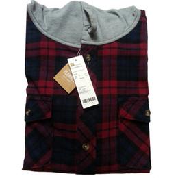 Wholesale Hooded Plaid Shirt Men - Wholesale-2016 Casual flannel shirt hooded plaid shirt men cotton mens plaid flannel shirts red black plaid shirt autumn jacket (N-701)