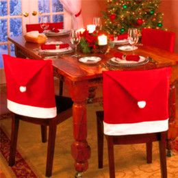 Wholesale Christmas Chair Covers Wholesale - Christmas Chair Back Cover Chair Cover Christmas Decorations 1 Pcs Christmas Decorations Happy Santa Red Hat Chair Back Covers Dinner Decor