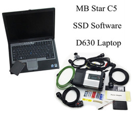 Wholesale Car Ssd - 2017 Newest mb star c5 sd connect for car and truck for MB diagnostic tool with software ssd with d630 laptop ready use