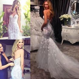 Wholesale Weddind Dresses - Vintage Lace Long Mermaid Wedding Dresses 2015 Spring Sweetheart Court Train Modest Weddind Dresses Custom Made Vestidos De Noiva