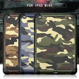 Wholesale protective hard case tablet - Army Military Camo Case for iPad mini 1 2 3 4 mini2 Shockproof Silicon Gel Armor Tablet Luxury Hard Cover free ship
