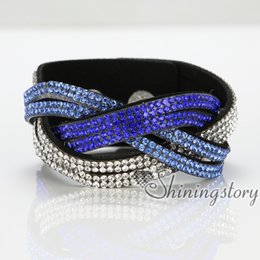 Wholesale Cheap Gift Wrapping - high quality slake bracelets rhinestone crystal bracelets blingbling multi layer wrap bracelets High fashion jewelry Cheap charm bracelets