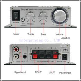 Wholesale Digital Audio Car Amp - New Lepai Class T Hi-Fi Audio Amplifier Tripath LP-2020A+ Amp 20WX2 Stereo Amp digital car amplifier