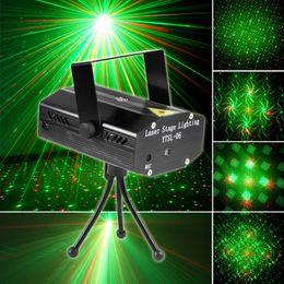 Wholesale Led Dance Floor Sales - Fast Delivery Mini Laser Stage Light - Holiday Sale 150mW Mini Green&Red Laser DJ Party LED Laser Stage Lighting Disco Dance Floor Lights