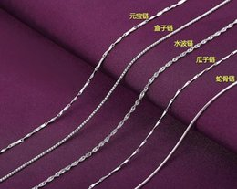 "Wholesale Genuine China Wholesale - New 18"" Genuine 925 Sterling Silver Chains Necklace + Clasps 925 Tag EXL92"