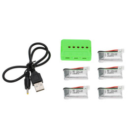 Wholesale Rc Battery Charger Nimh - 5Pcs New Upgraded 260mAh Lipo Battery 3.7V and X5 Charger for JJRC H8 Mini RC Quadcopter Parts