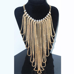 Wholesale Exaggerated Chunky Bib Necklace - 2016 Luxury Brand Big Chunky Jewelry Necklace Europe And America Set Auger Exaggerated Alloy Necklaces Party Wedding Accessories Bib Choker