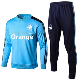 Wholesale High Quality Suits - HIGH QUALITY 17 18 Olympique de Marseille Training suit kits soccer Jersey 2017 2018 GOMIS CABELLA PAYET Marseill football shirt TRACKSUIT
