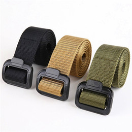 Wholesale cheap tactical - Wholesale 5-11 High Quality Cheap Alloy Buckle TDU US Army Tactical Belt Duty Belt Quick Release Combat Training Nylon Belt
