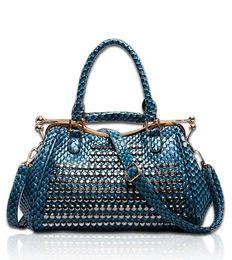 Wholesale Vintage Patent Leather Bags - 2016 Handbags Brand Luxury Women Patent Leather handbags Vintage Women Tote crocodile leather Shoulder bag messenger bags Ladies Women Bag