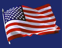 Argentina En Stock Regalos de boda Favores Bandera de los Estados Unidos Bandera de Estados Unidos Bandera de poliéster 150 * 90cm Entera 3 * 5 pies Suministro