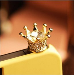 Wholesale Earphone Jack Accessories - Free Shipping Factory Direct Phone Accessories crystal Crown Dust Plug 4014