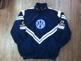 Wholesale Volkswagen Blue - Embroidery LOGO F1 FIA NASCAR IndyCar V8 Supercar Racing Jacket for Volkswagen Racing Team Jacket A106
