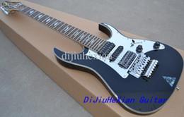 Wholesale Universe Black - UV777 Universe 7 String Vai Black Electric Guitar Dimarzio Pickups Floyd Rose Tremolo Bridge Disappearing Pyramid inlay Mirror Pickguard