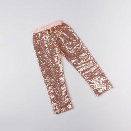 All'ingrosso-2015 nuovo popolare oro paillettes pantaloni bambino Fashion Bling lucido ragazze leggings pantaloni di colore della caramella pantaloni leggings club glitter oro da