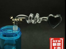 Wholesale Heart Shaped Pot Stainless Steel - Glass heart-shaped burn pot, color random delivery, wholesale glass hookah accessories, glass bongs accessories, free shipping, large better