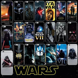 Wholesale Silicone Iphone 4s Covers - Star Wars Soft TPU Case For Iphone 7 I7 7G 6 6S Plus  5 5S SE 5C 4 4S Galaxy S7 Edge Cover Yoda Master Darth Vader Cartoon Skin