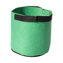 plastik pflanze tags großhandel Rabatt Freies verschiffen 3Gal / 5 Gal / 7 Gal / 10Gal Runde vlies Pflanzentöpfe Beutel Wurzel Container Wachsen Tasche Blumentöpfe Container Garten Pflanzer