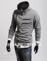 Wholesale Korea Monde Shirt - Fall-HOT monde South Korea zipper Hoodie Rider Men's Jacket Men's Coat Sweat Shirt mens coat 4 colours