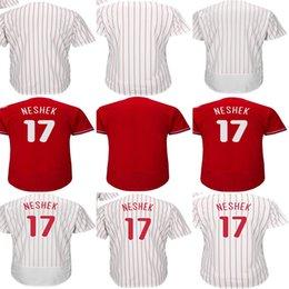 Hot Sale Newest Mens Womens Kids Toddlers Philadelphia 17 Pat Neshek Blank  White Red Cool Flex Base Cheap Top Quality Baseball Jerseys 38e1a8057