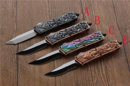 cuchillos plegables automáticos Rebajas Apertura asistida automática Cuchillo automático frío 440C acero rápido abierto Caza Cuchillo de bolsillo plegable Equipo de supervivencia regalo cuchillos de camping Herramienta EDC