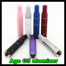 Wholesale Solid E Liquid - For Cut tobacco solid Liquid Herb Atomizer Clearomizer AGo G5 metal portable dry herb Atomizer for Ecig e-cig ecigator vaporizer pen DHL