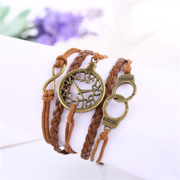 Wholesale Braid Chain Link - 2016 Sale Limited Link, Chain Middle Eastern Unisex Gift Alloy Halloween Foreign Orders Love Clock Hand Handcuffs More Diy Braided Bracelet
