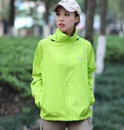 Wholesale Wholesale Summer Jackets - Wholesale- 2017 Spring Autumn Summer Men & Women jacket hooded jacket Fashion Lovers Thin Windbreaker Zipper Coats Womens Jackets And Coats
