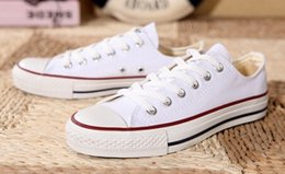 Wholesale Cheap Platforms - Free shipping! Casual Shoes Low Men's Women's Canvas Shoes Cheap Vulcanized Canvas Shoes Flat shoes platform loafers women