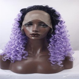 Argentina kabell moda pelucas delanteras de encaje de color rosa natural de  solidez de onda fibra 50581b79505c
