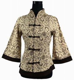 Wholesale Chinese Traditional Women Top - Wholesale-New Fashion Chinese Women's Cotton Shirt V-neck Blouse Traditional Floral Tops Vintage Handmade Button Plus Size S To 5XL