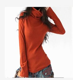 Wholesale Computer Sale Lowest Price - Wholesale- 2016 LOWEST PRICE Hot Sale Cashmere Pullover Cashmere Warm Pullovers Fashion Clothes TurtLeneck Sweaters 6 Colors Free Shipping