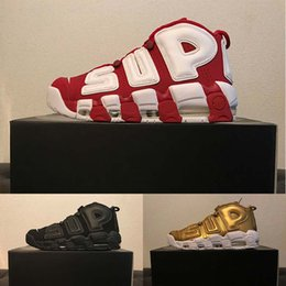 Wholesale Black Varsity - 2018 High quality Air 96 QS Olympic Varsity Maroon Mens Basketball Shoes CHI black gold Airs 3M Scottie Pippen Uptempo Sports Sneakers 41-47