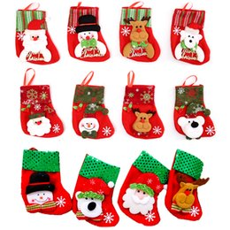 2019 doces dos cervos Meia de natal Meias De Lantejoulas Festa de Natal Decoração de Árvore de Natal Papai Noel Veados Urso Boneco de Neve Saco de Doces Sacos de Presente Festival Ornamento desconto doces dos cervos