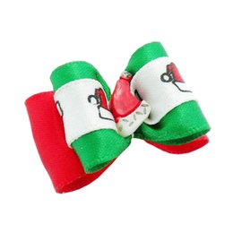 Wholesale Ribbon For Dogs Hair Wholesale - Armi store Handmade Accessories For Dogs Grooming Cute Christmas Plastic Cap Ribbon Hair Bow 25025 Yorkie Dog Bows.