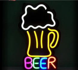 Wholesale 12v Coffee - advertising Signboards neon led open sign beer coffee store barbershop led signs Flexible neon acrylic logo Dc12v waterproof